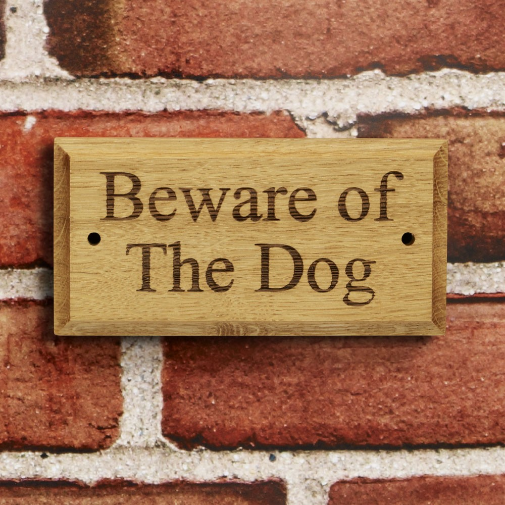 Oak Gate Signs - Made to Order with your choice of message
