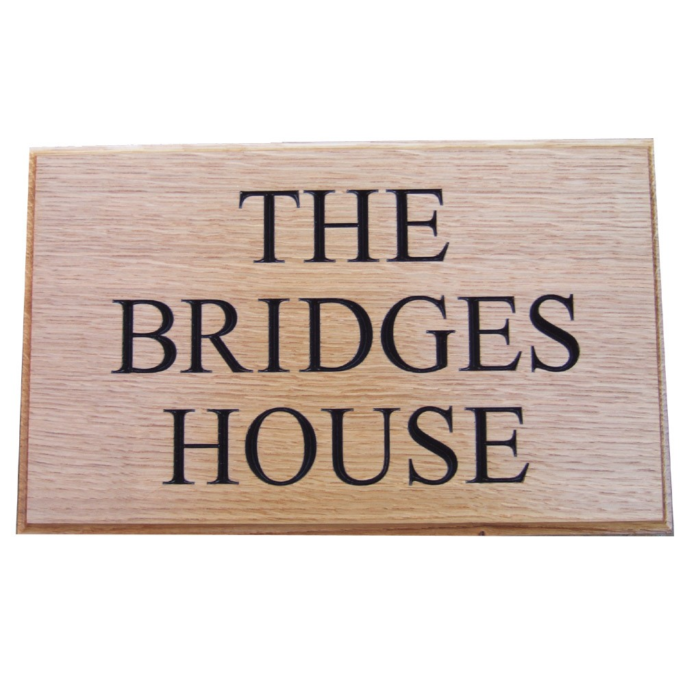 Our Carved Oak signs are Deep Engraved to a depth of up to 10mm & may be painted if required