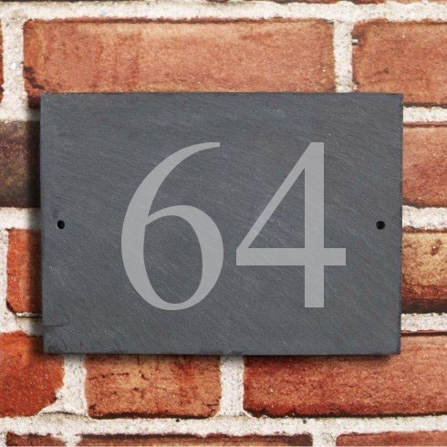 Natural Slate - House Number Sign - 1 or 2 digit
