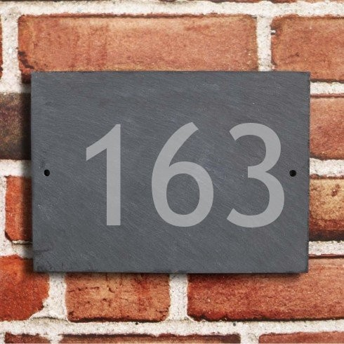 house number plaque in natural slate personalised house signs com