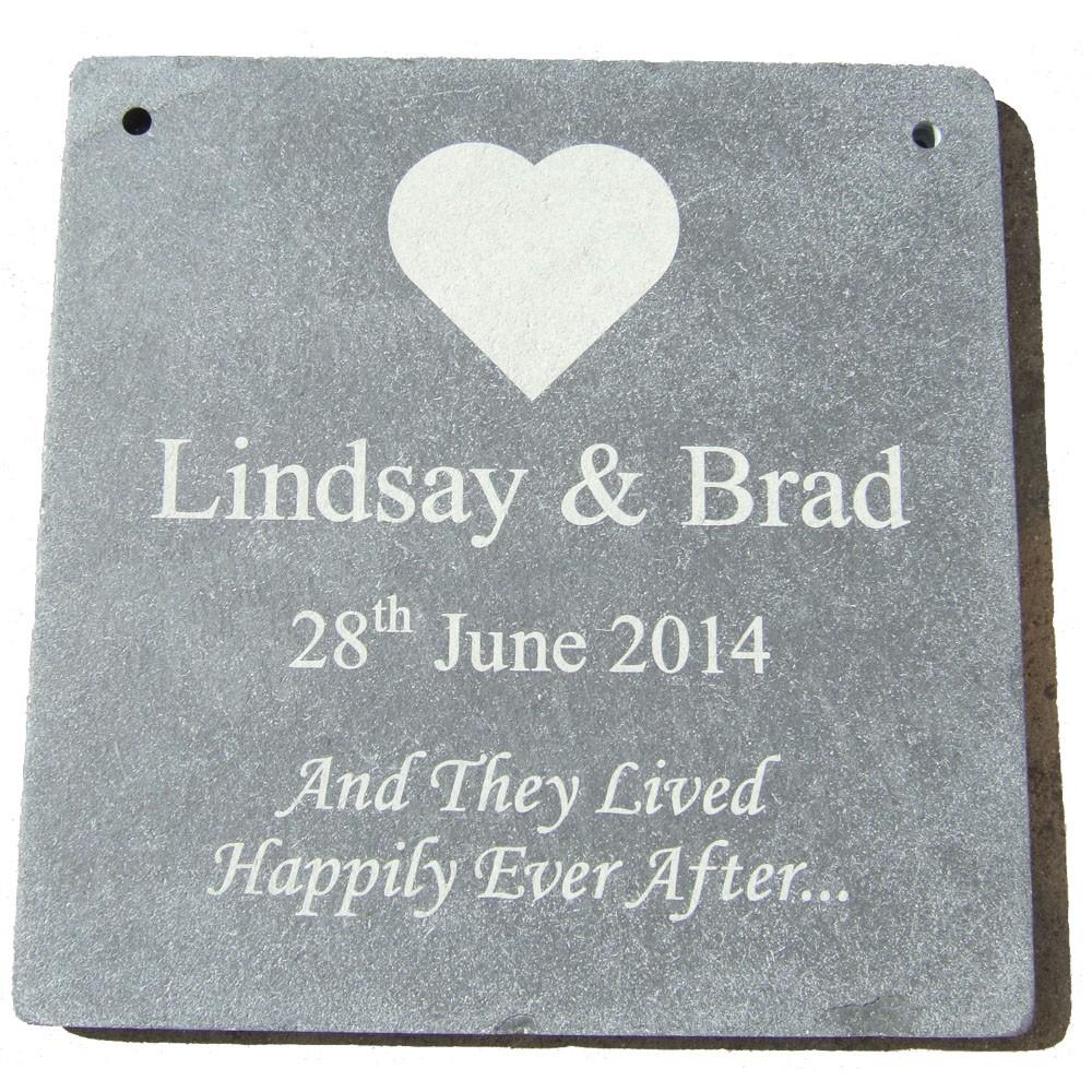 Personalised Slate Wedding Plaque