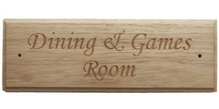 Internal Door Sign in Carved Oak