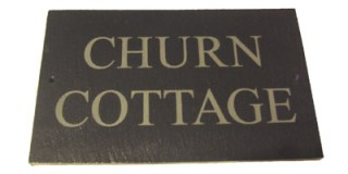 Natural Slate House Sign - 2 row