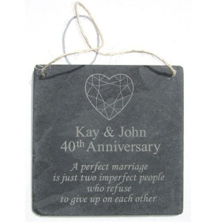 Personalised Slate Anniversary Plaque