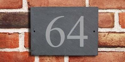 Natural Slate - House Number Sign - 1 or 2 digit