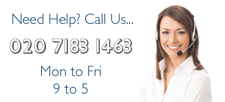 Please call us on 020 7183 1463 if you need assistance, we'd love to hear from you.